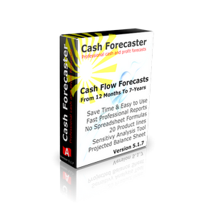 Cash Forecaster Software V 5.1.7 300 x 300 - Cash Flow Forecasting Template - VAT - Sales Tax - Loan and Hire Purchase all made easy